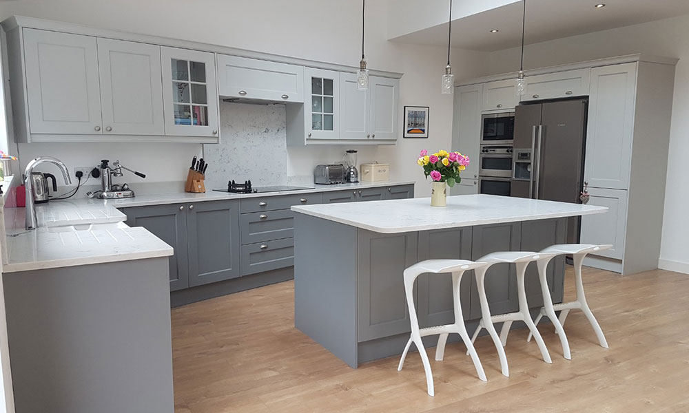 light grey kitchen ashbourne dust grey with ashbourne light grey real 3744