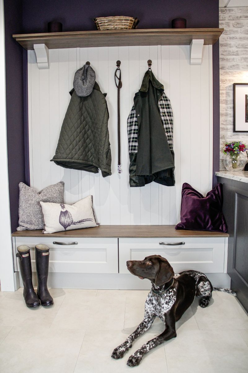 Nala the dog in Masterclass Kitchens boot room