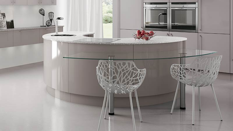 Design features for Curved kitchen island designs
