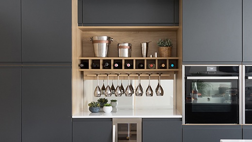 Small kitchen storage - pull out larder