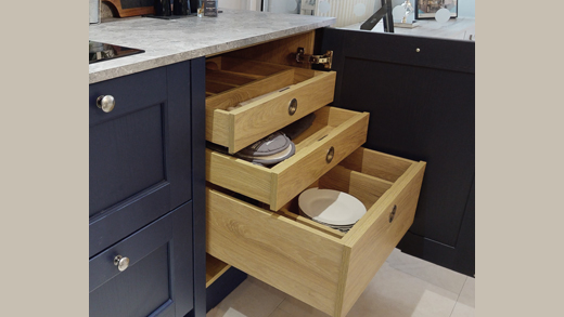 Small kitchen storage - internal drawers