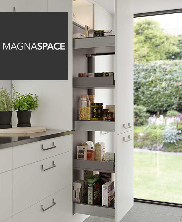 Masterclass Kitchens MagnaSpace ultra-modern kitchen design and storage in The Signature Collection