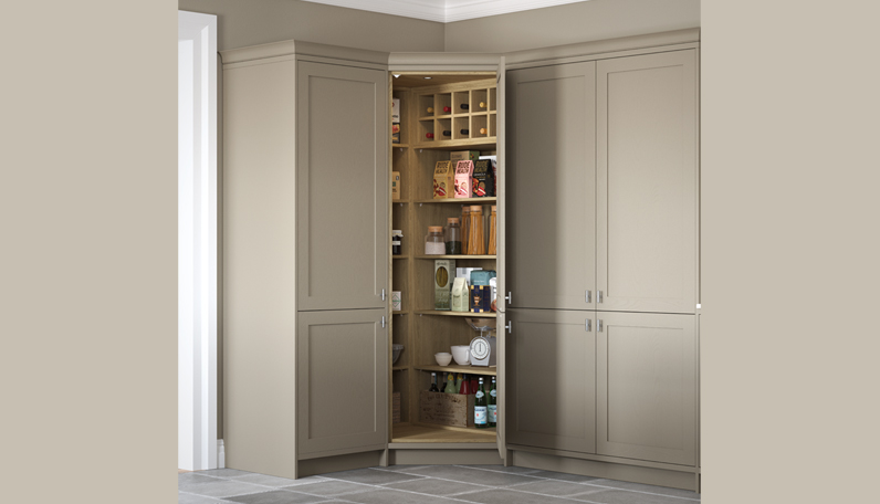 A classic corner pantry