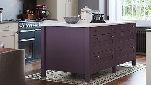 A freestanding kitchen island