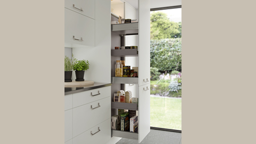 A modern pull out larder