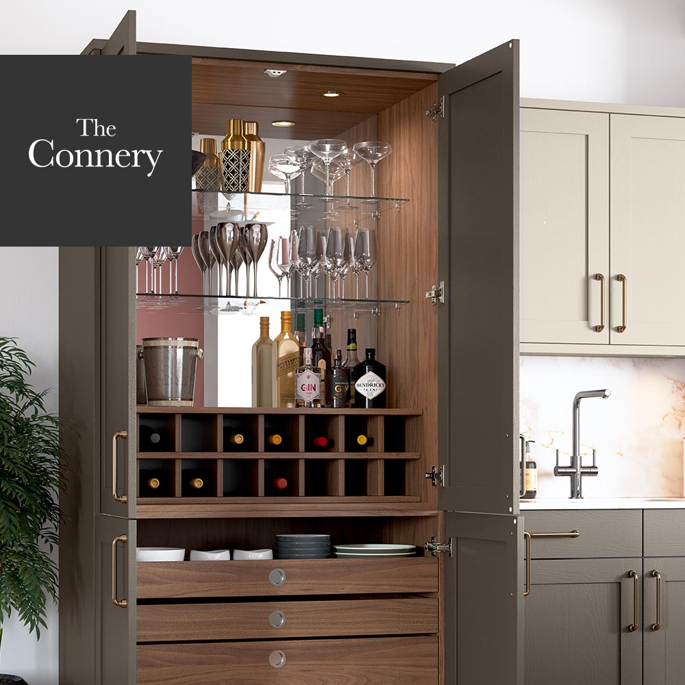 Masterclass Kitchens The Connery Cocktail Cabinet from The Signature Collection - ideas for modern kitchens