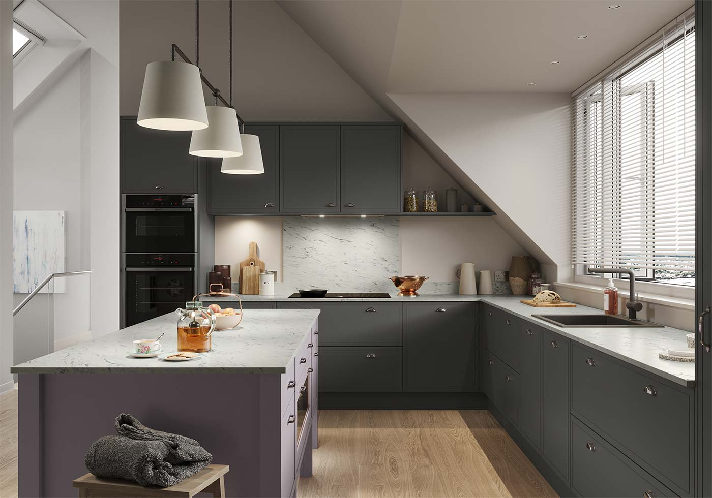 Inframe effect Classic modern kitchen