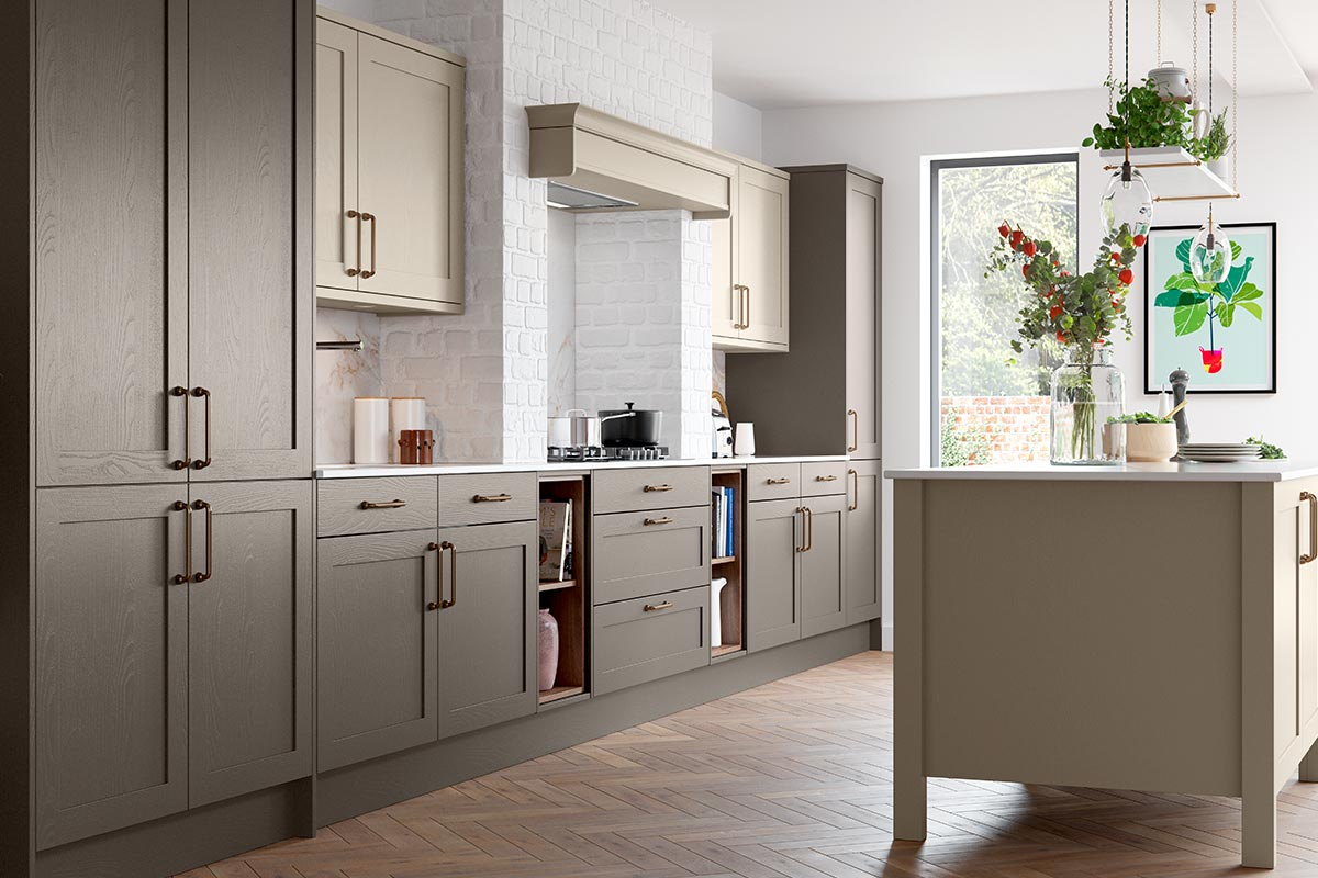 Masterclass Kitchens Pilasters on Kitchen Island for Shaker Kitchens UK