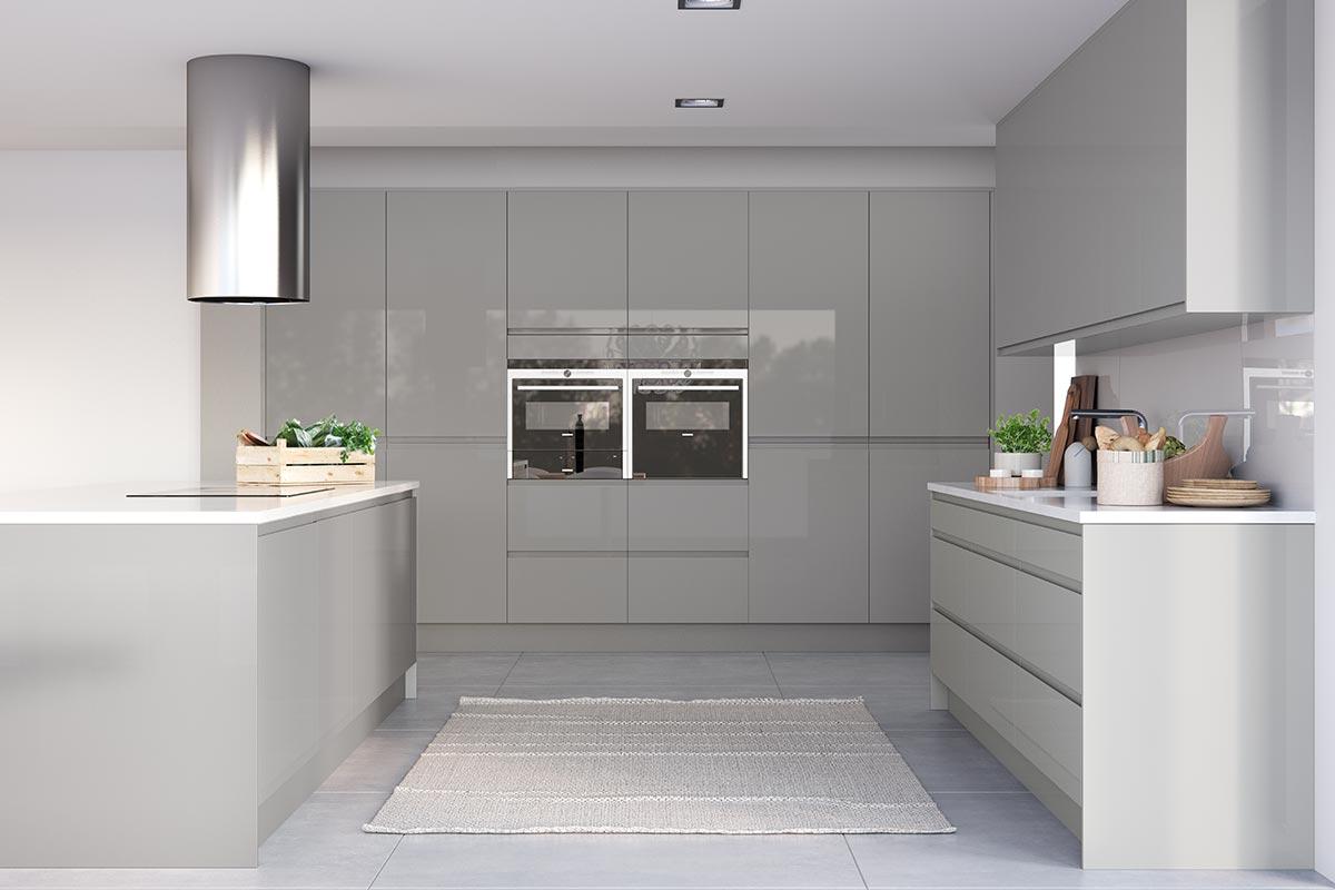 Italia J Pull Gloss Modern Kitchen Masterclass Kitchens