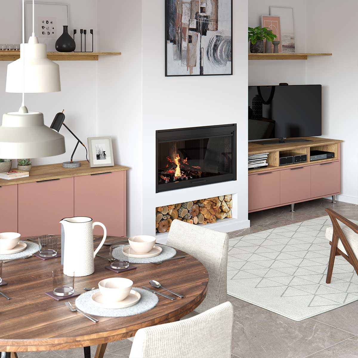 Sutton sideboard in Autumn Blush.