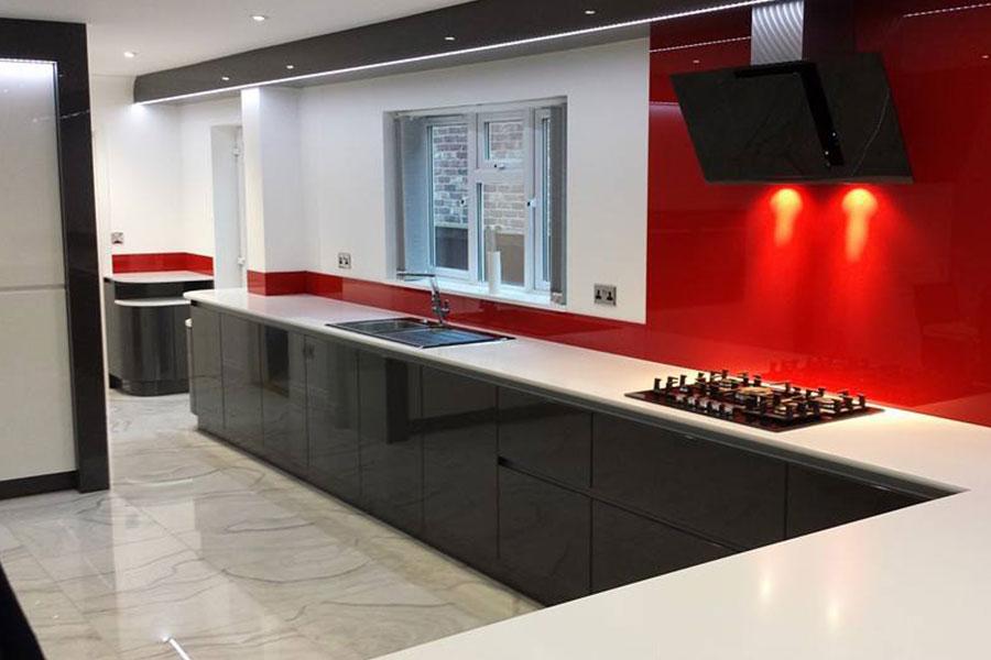 28 graphite kitchen units gloss red graphite gloss for Red gloss kitchen units