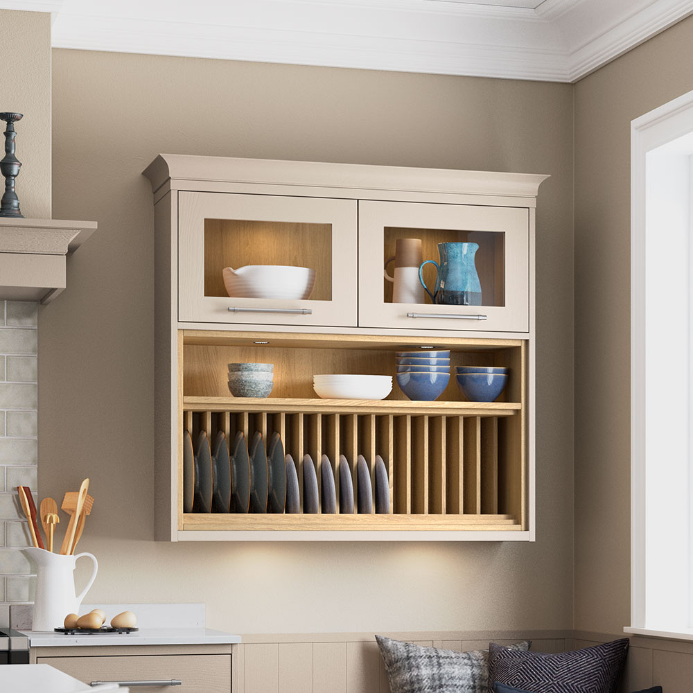 Masterclass Kitchens open shelving storage solutions for your kitchen