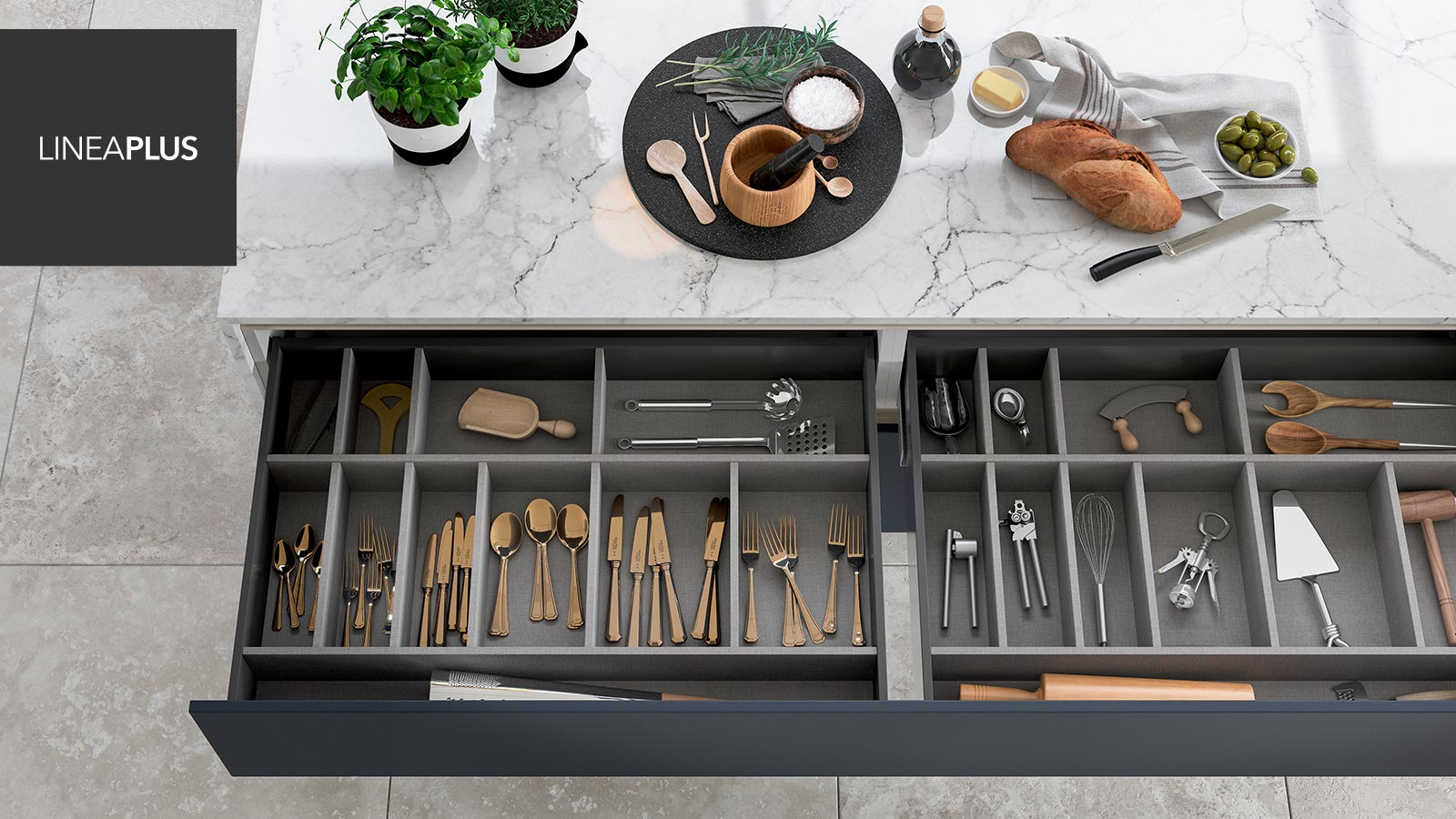 Modern Kitchen Drawers - Perfect For Organisation