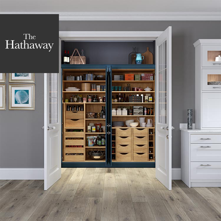 Masterclass Kitchens contemporary kitchen ideas in The Hathaway kitchen pantry
