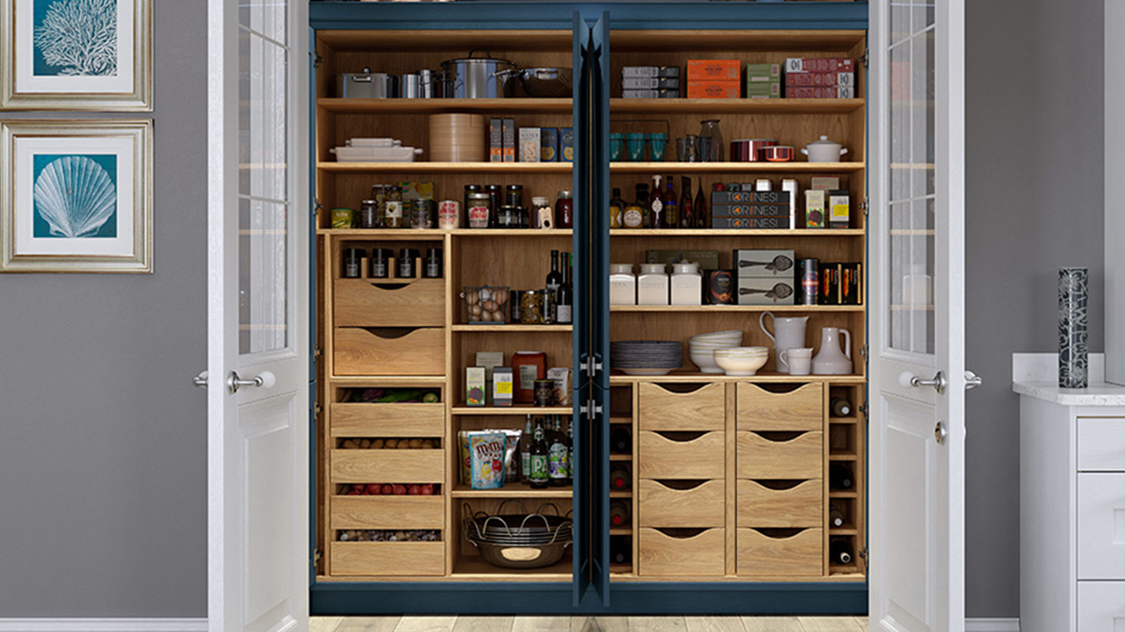 Pantry storage feature