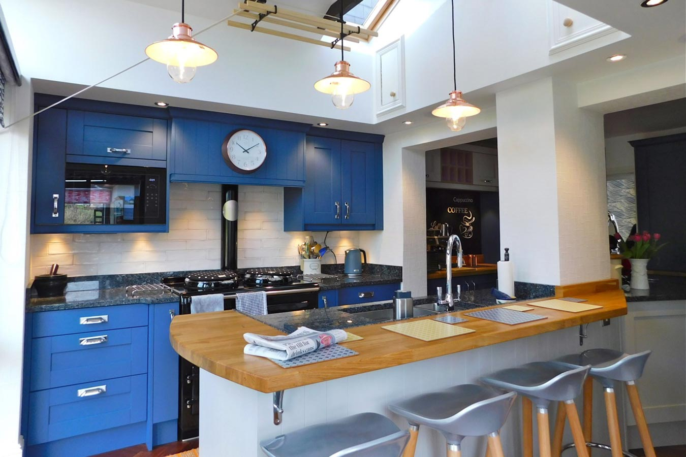 Masterclass Kitchens Blue Shaker Kitchen