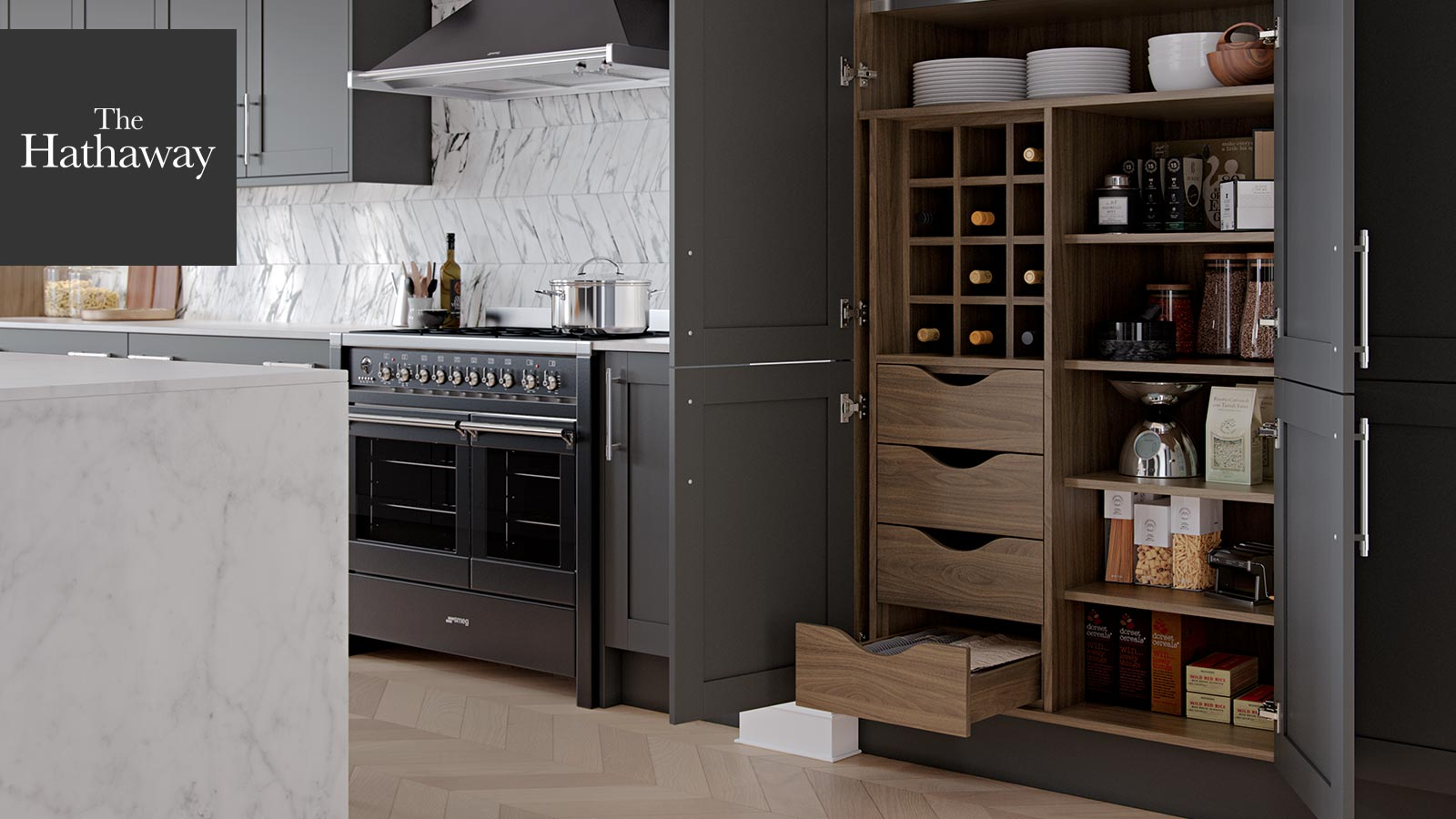 The Hathaway Kitchen Pantry Storage - Perfect For Zoning Your space