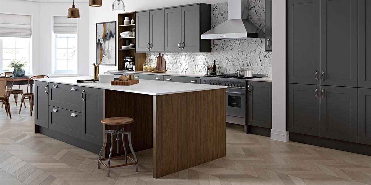 Chic Kitchen Pantry Features White Shaker Cabinets Fitted: Masterclass Kitchens