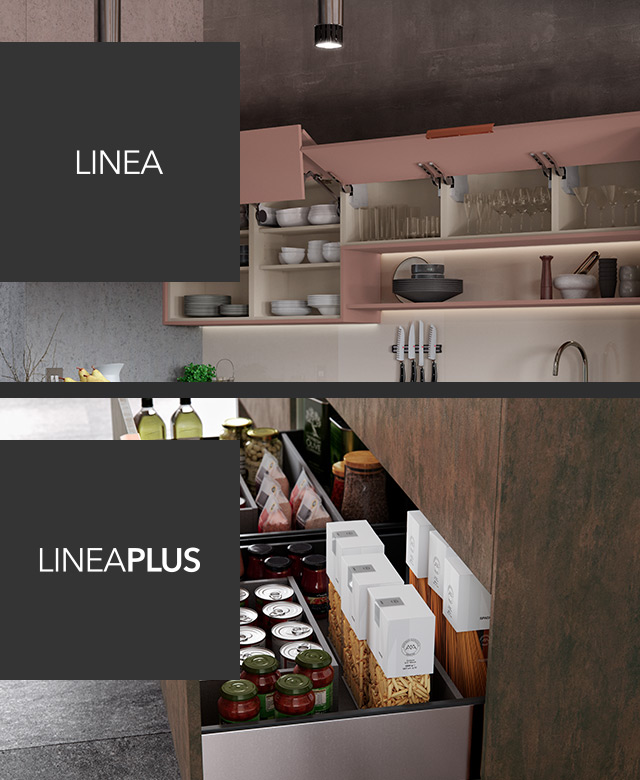 Linea Widest Deepest Kitchen Drawers