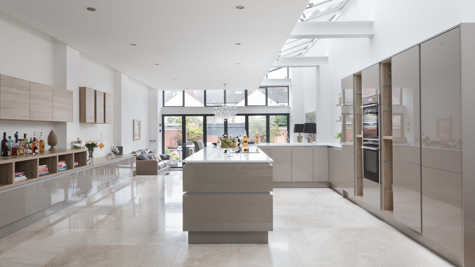 The Grey's Handleless Kitchen